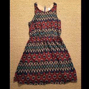 Xhilaration Patterned Dress Size M
